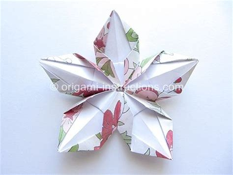 Origami 5 Petal Flower - origami modular 5 petal flower learning to grow