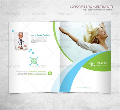 Health Medical Care Bifold Brochure Template By Katzeline Graphicriver Health Coach Brochure Templates
