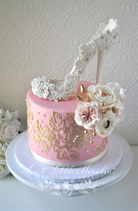 bridal shower cake decorating blush pink and gold bridal shower cake cake by cakesdecor