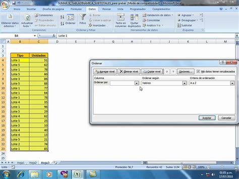 excel online tutorial youtube tutorial subtotales en excel youtube