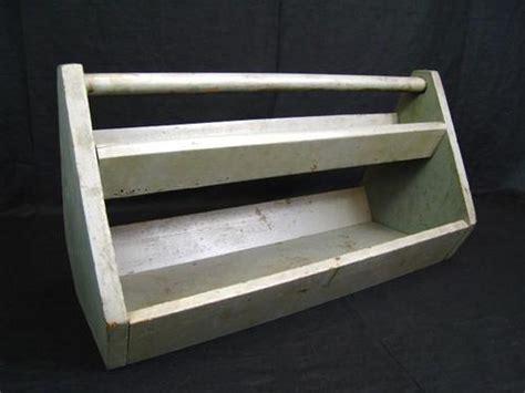 Handmade Tool Box - vintage 21 quot wooden trug tote tool box two tier handmade