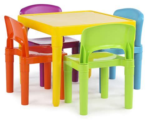 tot tutors kids plastic table   chairs set vibrant colors