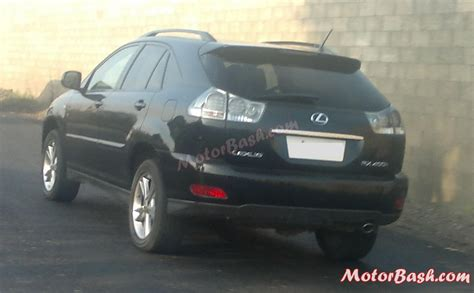 lexus india spotted what is this lexus rx400h crossover doing in pune