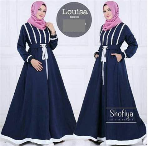 Dress Gamis Muslim Wanita Glacio Maxy 2 jual baju muslim gamis murah baju murah dress murah louisa
