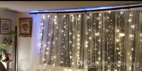 2017 warm white 300led window curtain icicle lights string