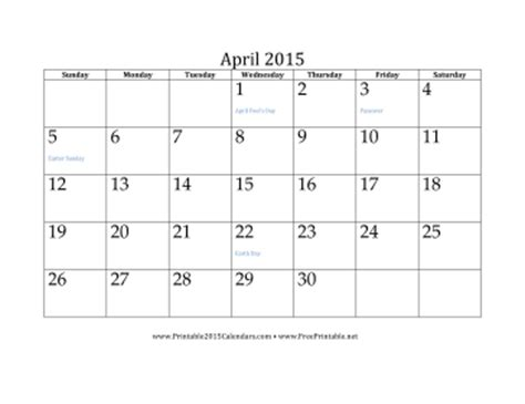 online printable calendar april 2015 printable april 2015 calendar