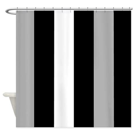 black and gray shower curtain grey black and white stripes shower curtain by