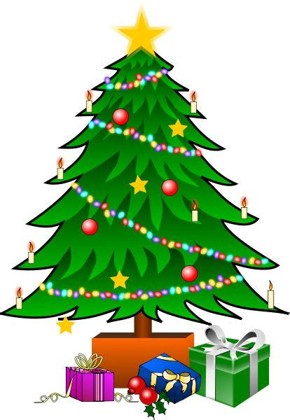 christmas tree with gifts clipart panda free clipart