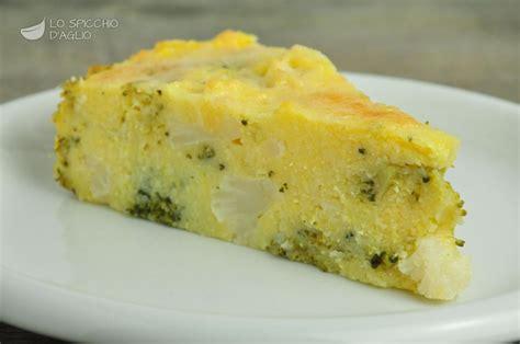 cucinare broccolo verde ricetta torta di polenta con broccoli e cavolfiori le