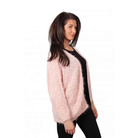 Dress Cardigan Baby Pink larissa baby pink knitted sleeve cardigan from
