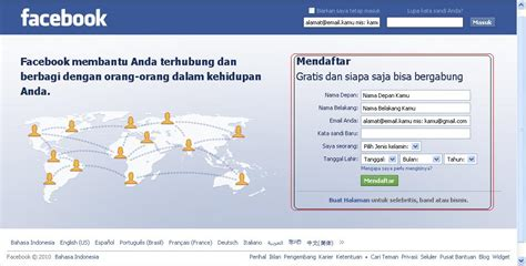 membuat yayasan di indonesia cara membuat atau mendaftar di facebook dari komputer
