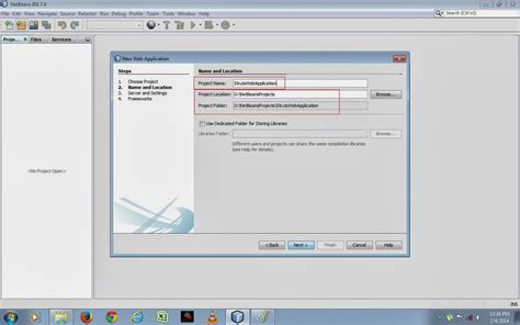 tutorial java web application netbeans java web development how to create java struts web