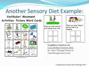 sensory diet template sensory processing disorder what you should