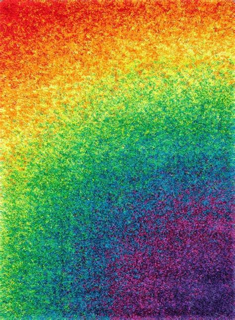 Loloi Rugs Barcelona Shag Collection Bs 01 Rainbow Rainbow Rug