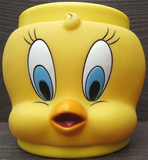 Mug Plastik 3d Karakter tweety bird plastic collectors mug cup warner brothers