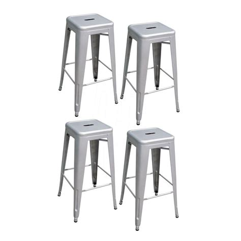 AmeriHome Loft Style 30 in. Stackable Metal Bar Stool in ...