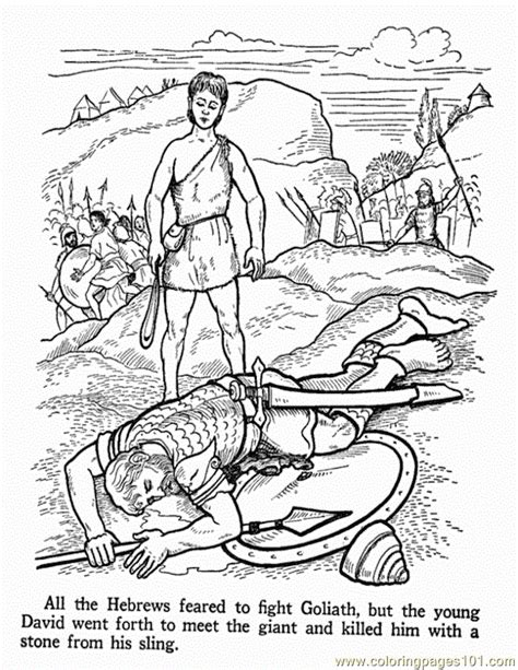 david and goliath 2 coloring page free religions