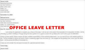 official application for leave assignment point