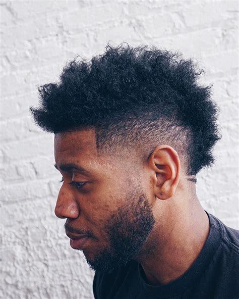 mohawk fade on black men mohawk fade haircuts