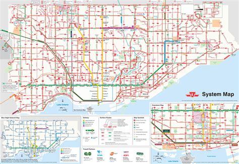 toronto canada map toronto transport map