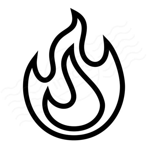 Flames Plain Lined iconexperience 187 i collection 187 icon