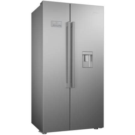Plumbed Water Dispenser by Beko Asd241s Silver American Fridge Freezer With Non
