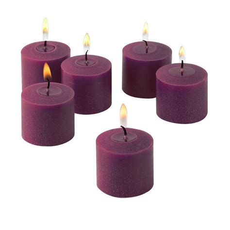 light in the burn 10 hours purple unscented votive candles set of 288 litd v10288 purple
