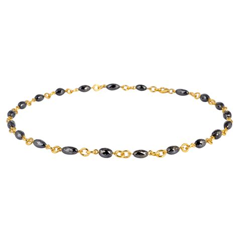 gold add a bead necklace 36 96ct pave 18k solid yellow gold add a bead