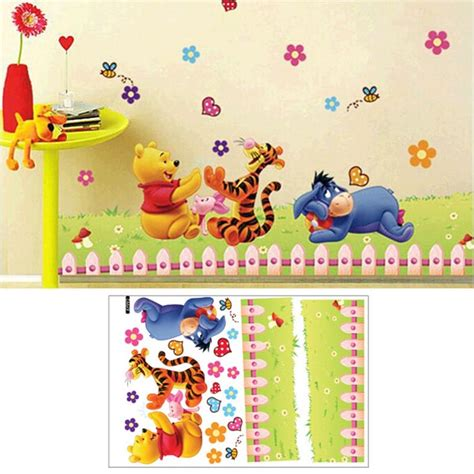 Winnie The Pooh Nursery Wall Decals Winnie The Pooh Decals Bedroom Baby Nursery Decor Room Wall Stickers Ebay