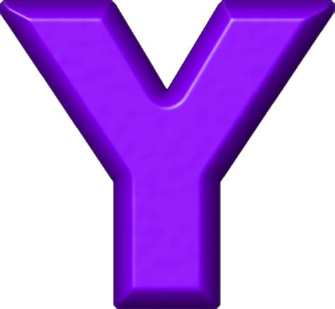 Colour Purple by Presentation Alphabets Purple Refrigerator Magnet Y