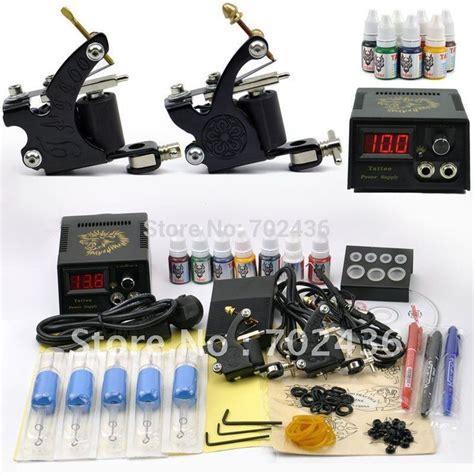 professional tattoo supplies professional kit set 2 machine guns 7 color