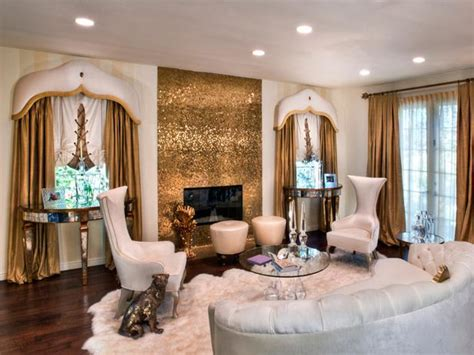 Gold Living Room by Funky White Living Room With Gold Accents Hgtv