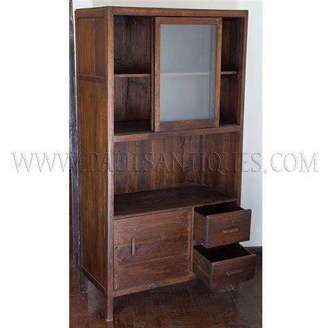 kitchen cabinet art colonial burmese art deco teak and glass kitchen cabinet
