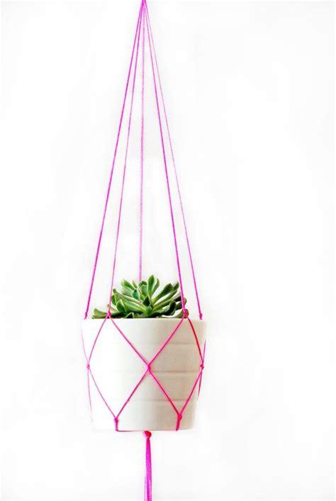 Simple Macrame Plant Hanger - simple modern macrame plant hanger