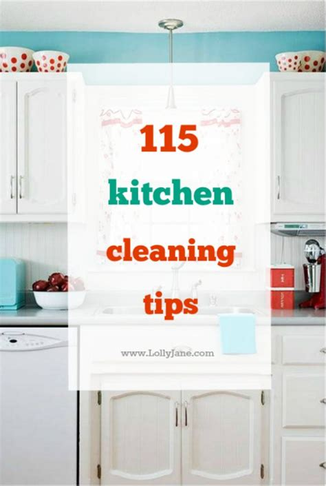 Tips For Keeping Kitchen Clean by 115 Kitchen Cleaning Tips