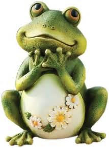 statue frog resin stone mix decorate garden studio art