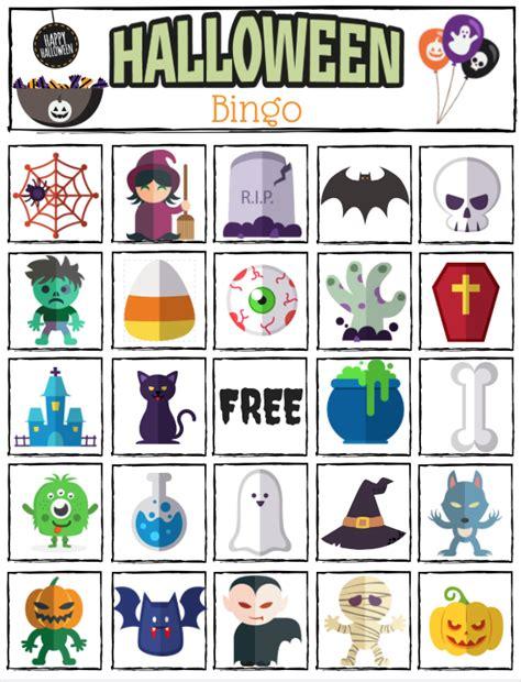 printable halloween bingo cards with pictures halloween bingo printable great for halloween class parties