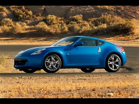 blue nissan 370z 2009 nissan 370z blue side angle 1280x960 wallpaper