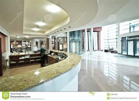 Large Dining Room Table Seats 20 modern hotel reception desk stock photo image 34865408