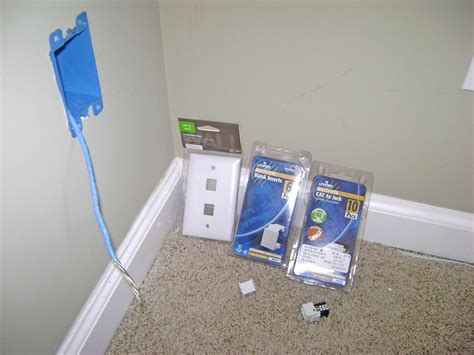 ethernet wall jack wiring how to install an ethernet jack for a home network