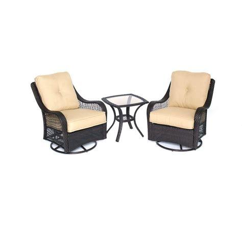 Hanover Orleans Piece All Weather Wicker Patio Swivel Swivel Rocker Chair Covers