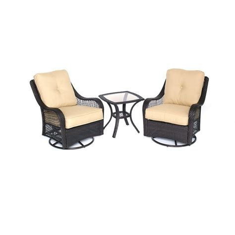 Hanover Orleans Piece All Weather Wicker Patio Swivel