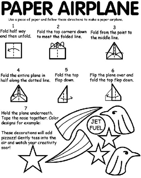 Paper Airplane Coloring Page   crayola.com