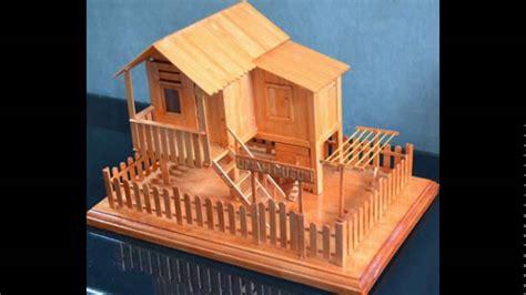 cara membuat rumah menggunakan batang aiskrim miniatur rumah keren kumpulan kerajinan terbuat dari