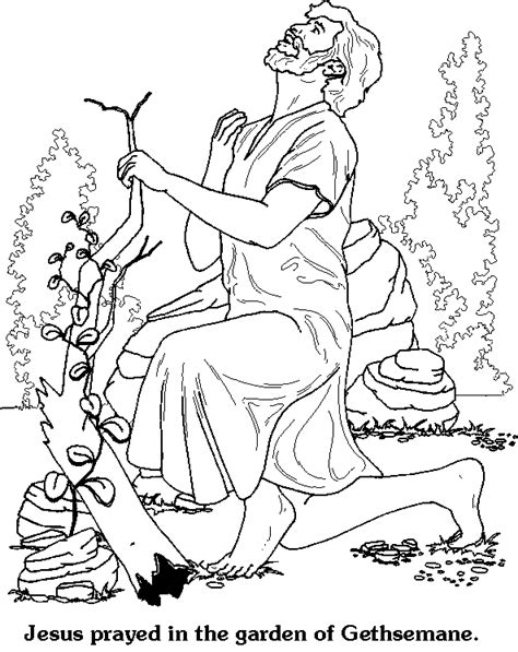 coloring pages jesus in gethsemane christian easter crafts and coloring pages