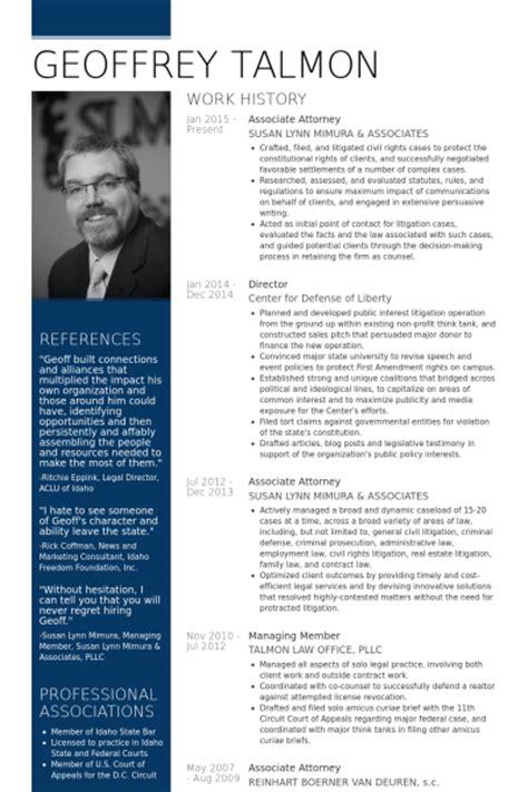 Avocat Associé Exemple de CV   Base de données des CV de