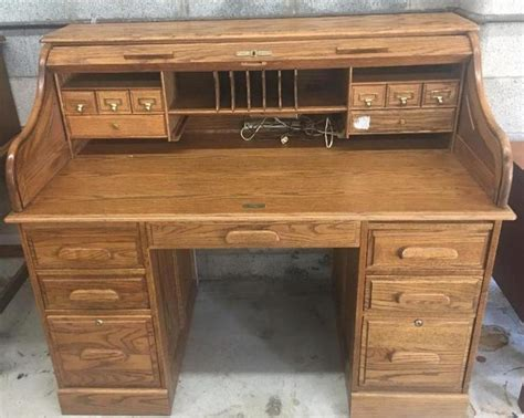 oak crest roll top desk oak roll top desk current price 105