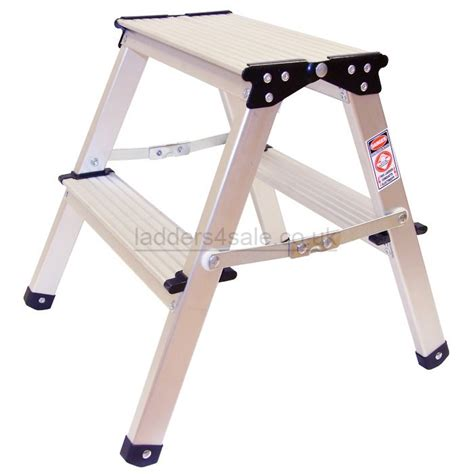 2 Step Folding Stool by Aluminium Sided Folding Step Stool 2 Tread