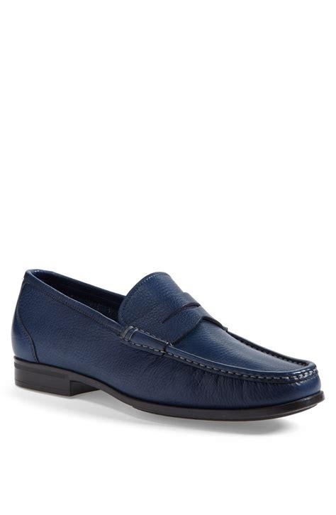 santoni loafer santoni tucker loafer in blue for navy lyst