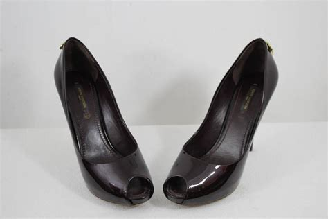 Louis Vuitton High Heel Shoes 9320 6 louis vuitton lock patented leather high heel shoes size